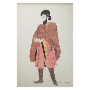 Original Drawing of Early Tribe Fashion circa 1973